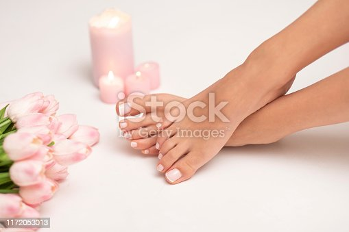 Nice manicure and pedicure is must have for every woman.
