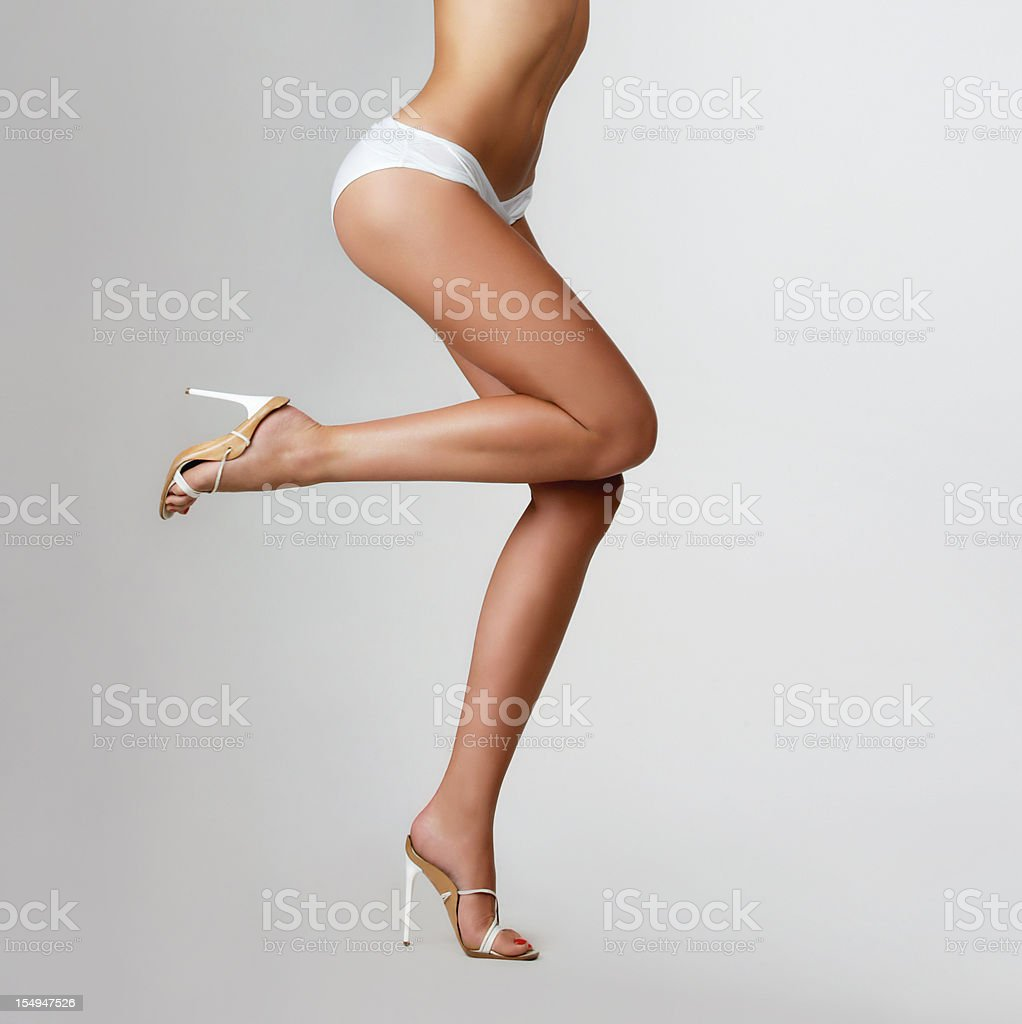 Beautiful female legs. stock photo