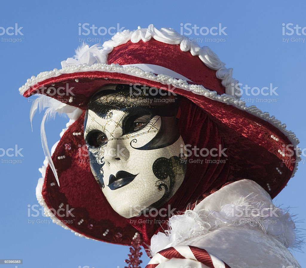 Beautiful female mask at Carnival in Venice royalty-free stock photo
