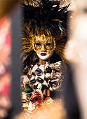 Shot this through the glass of a local mask store in Venice. I found this mask to be incredibly beautiful and somehow standing out from the rest.