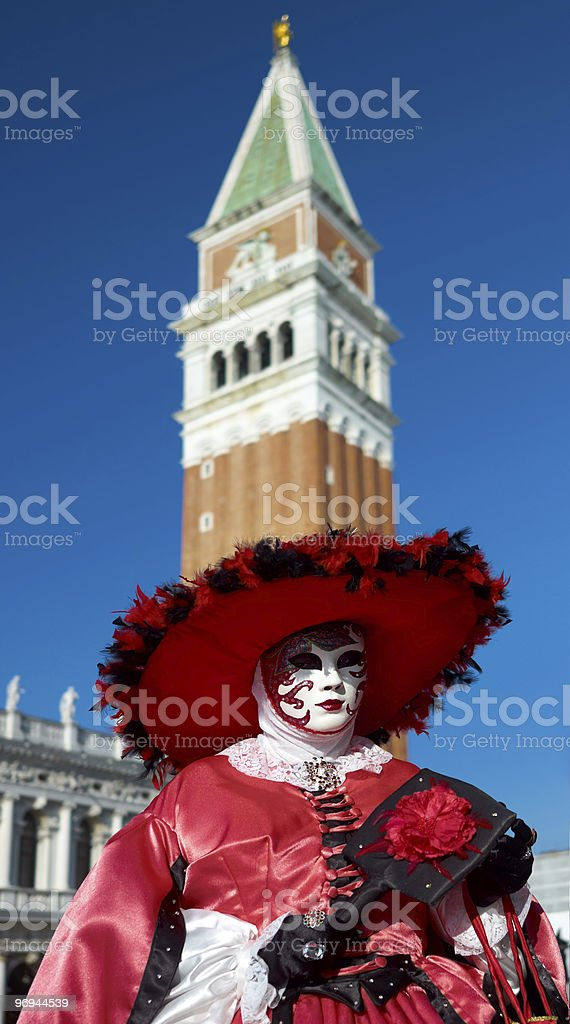 Beautiful female mask in Venice carnival royalty-free stock photo
