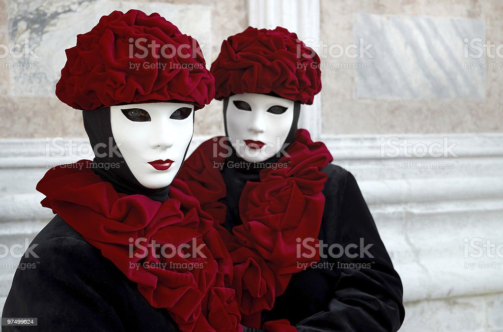 Beautiful female masks in Venice royalty-free stock photo