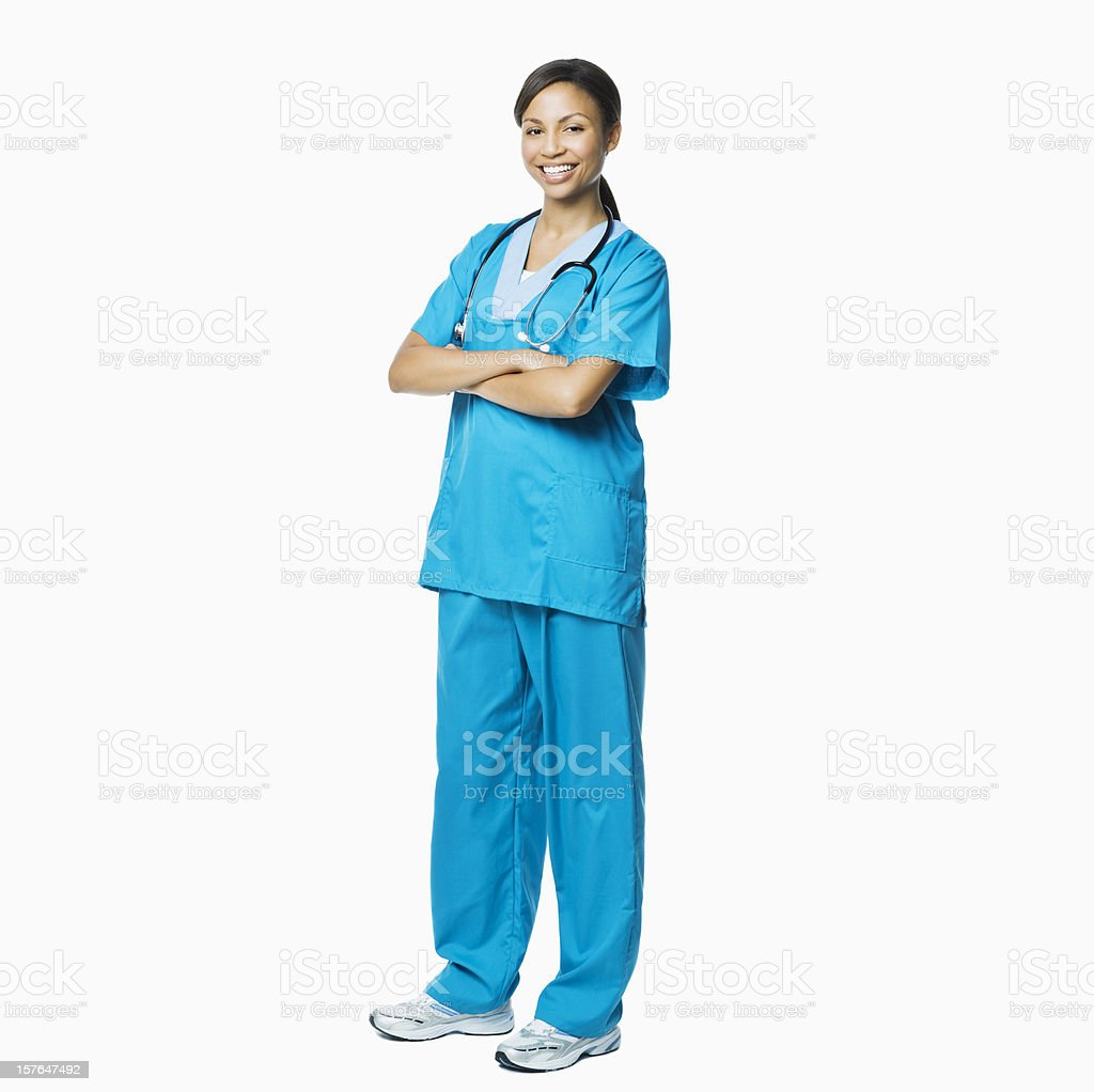 Beautiful Female Medical Professional - Isolated royalty-free stock photo