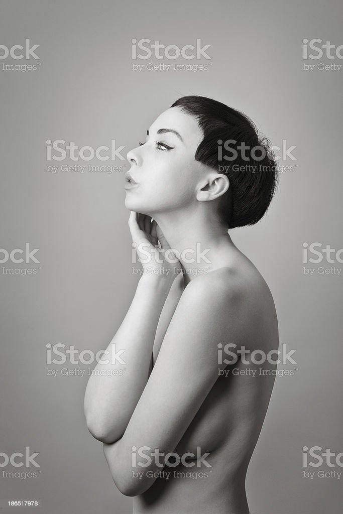 beautiful female model royalty-free stock photo