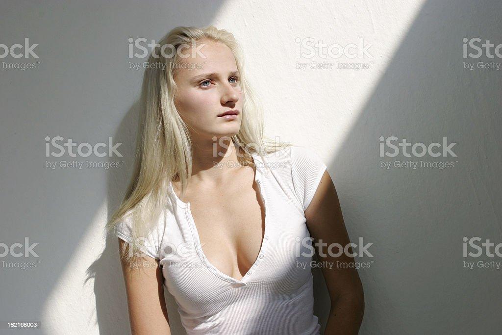 Beautiful Female Pensive royalty-free stock photo