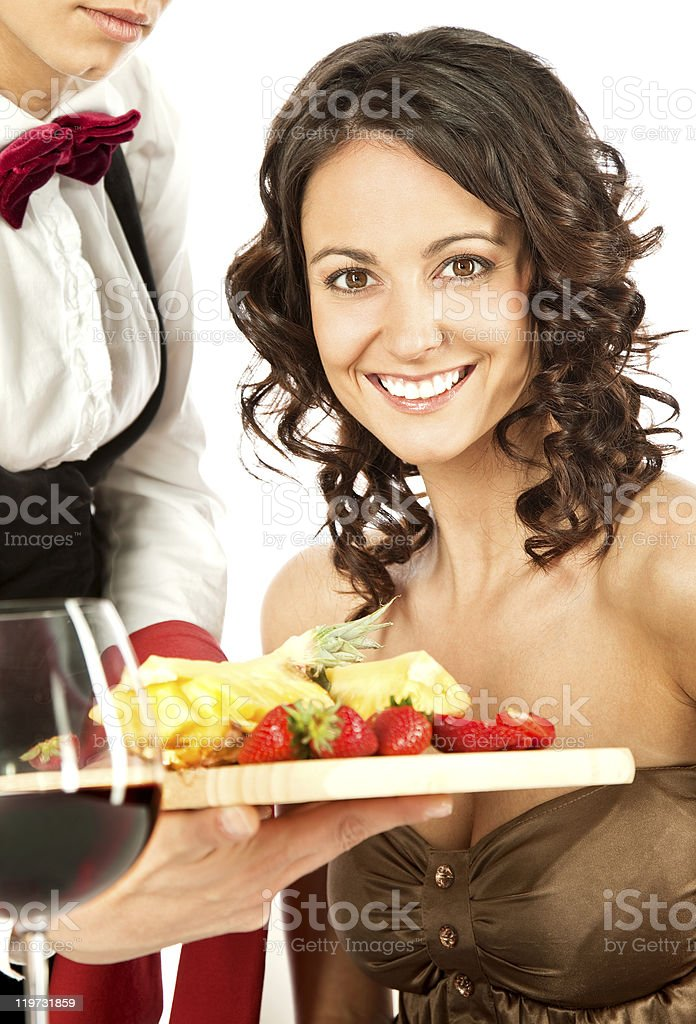 Beautiful female restaurant royalty-free stock photo
