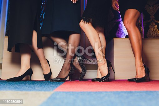 Beautiful female slim feet of group of girls, please see some of my other parts of a body images