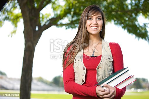 istock Beautiful Female Student 170008850