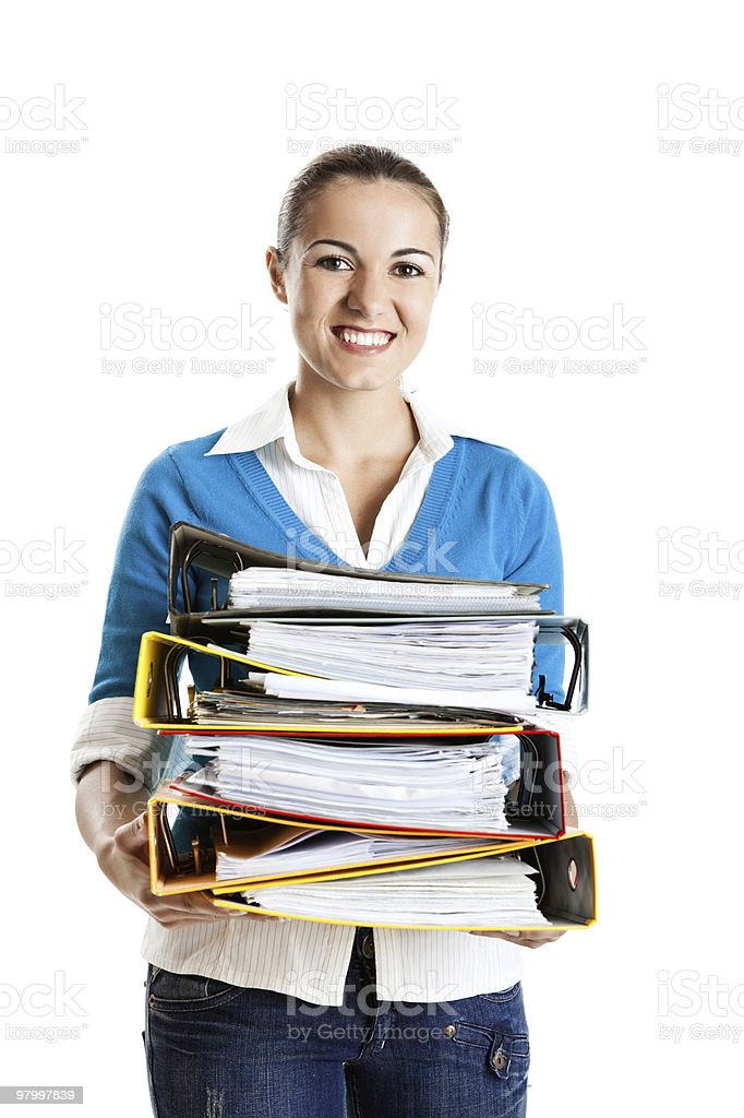 Beautiful female student royalty-free stock photo