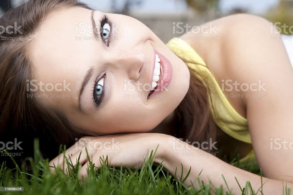 Beautiful female summer portrait royalty-free stock photo