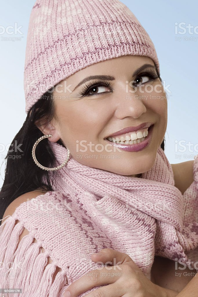 Beautiful female with heartwarming smile royalty-free stock photo