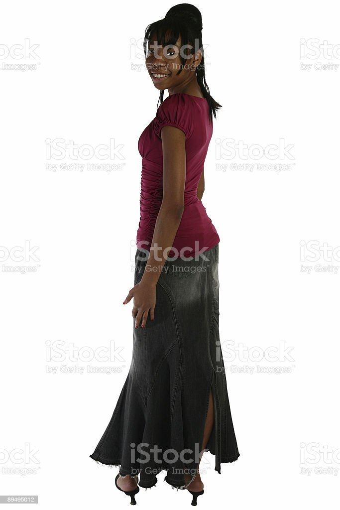 Beautiful Fifteen Year Old Teen in Casual Dress royalty-free stock photo