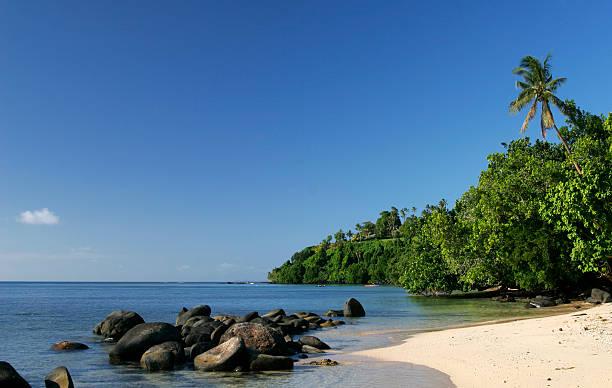 Beautiful Fiji Beach stock photo