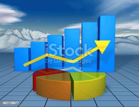 istock beautiful financial 3d background with colorful charts 462128677