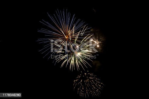 1086534384 istock photo Beautiful Firework in the sky, celebration and new year concept 1178346280