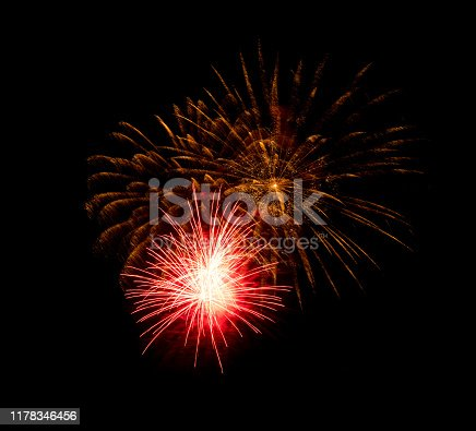 1086534384 istock photo Beautiful Firework in the sky, celebration and new year concept 1178346456