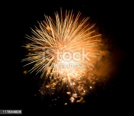 1086534384 istock photo Beautiful Firework in the sky, celebration and new year concept 1178346628