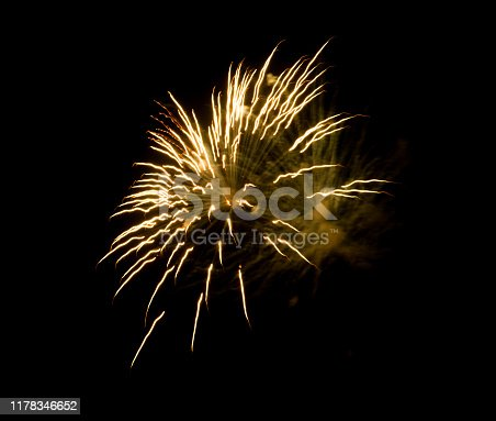1086534384 istock photo Beautiful Firework in the sky, celebration and new year concept 1178346652