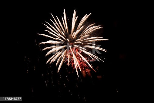 1086534384 istock photo Beautiful Firework in the sky, celebration and new year concept 1178346737