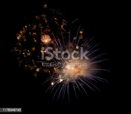 1086534384 istock photo Beautiful Firework in the sky, celebration and new year concept 1178346743
