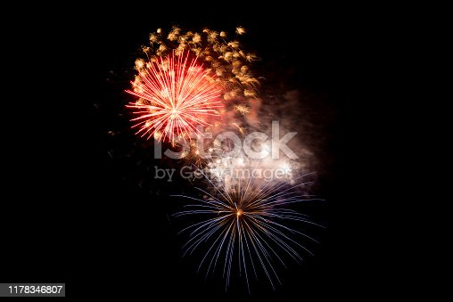 1086534384 istock photo Beautiful Firework in the sky, celebration and new year concept 1178346807