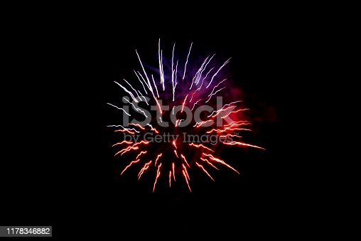 1086534384 istock photo Beautiful Firework in the sky, celebration and new year concept 1178346882