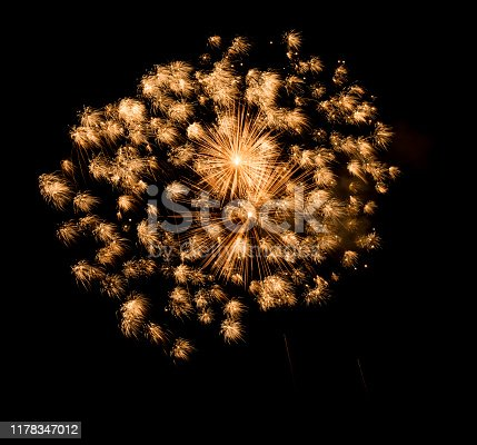 1086534384 istock photo Beautiful Firework in the sky, celebration and new year concept 1178347012