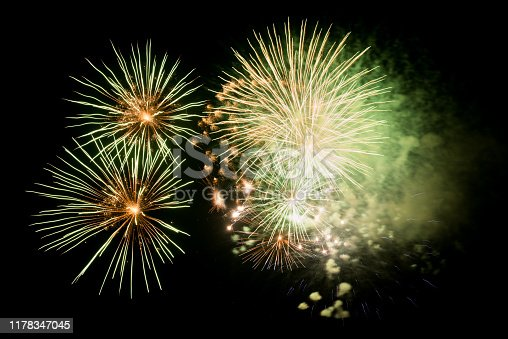 1086534384 istock photo Beautiful Firework in the sky, celebration and new year concept 1178347045
