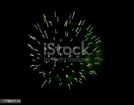 1086534384 istock photo Beautiful Firework in the sky, celebration and new year concept 1178347114