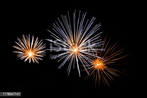 1086534384 istock photo Beautiful Firework in the sky, celebration and new year concept 1178347141