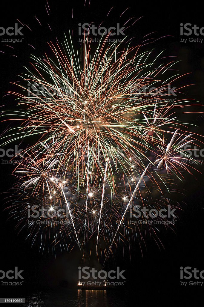 Beautiful firework royalty-free stock photo