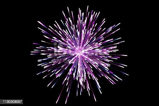 855125304 istock photo Beautiful fireworks display on black background 1130309057
