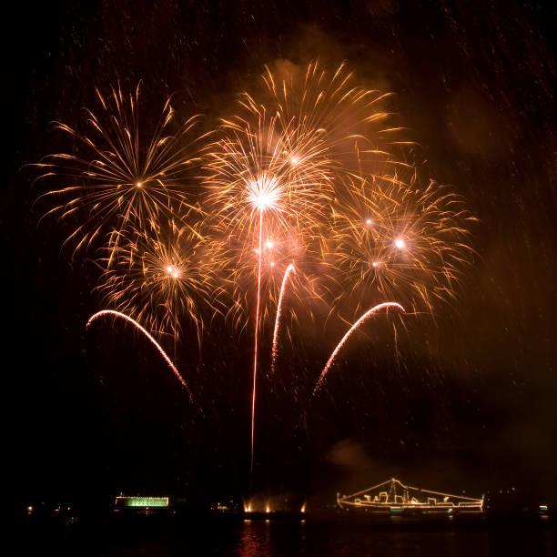 Beautiful fireworks stock photo