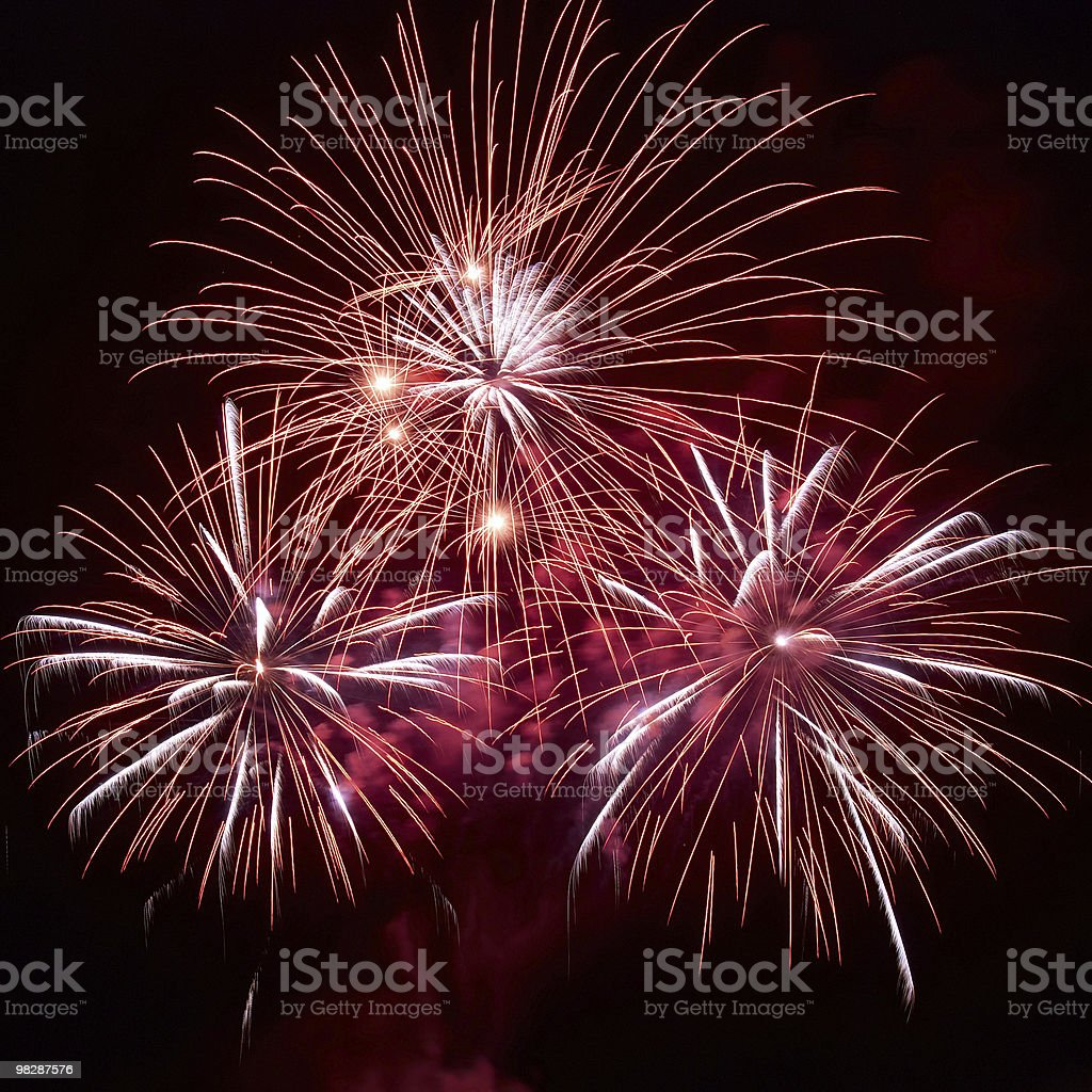 Beautiful fireworks royalty-free stock photo