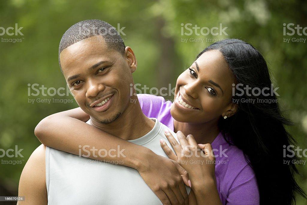 beautiful fit couple royalty-free stock photo