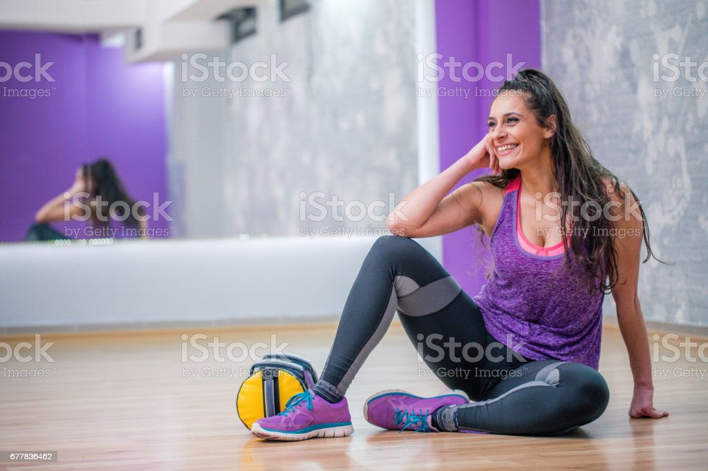 Beautiful fit woman royalty-free stock photo
