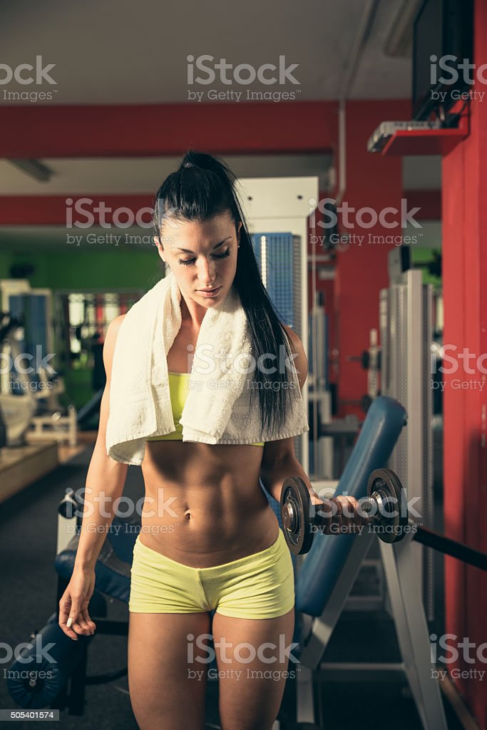 Girl gym Workout Fitness