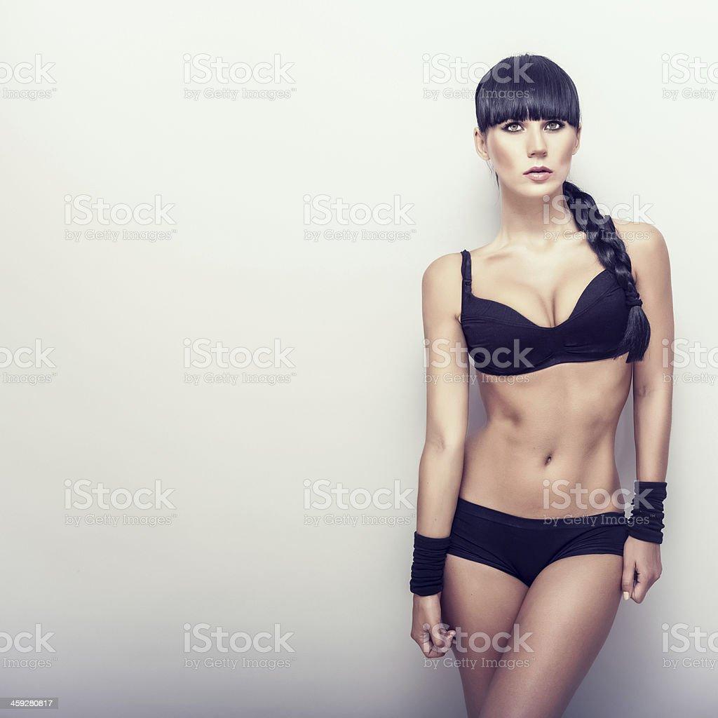 Beautiful  fitness girl stock photo