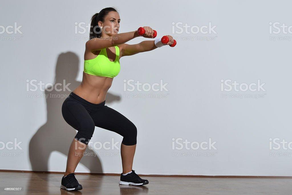 beautiful fitness woman stock photo