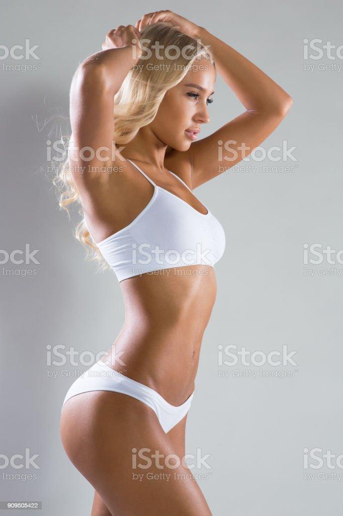Schöne fitness Frau – Foto