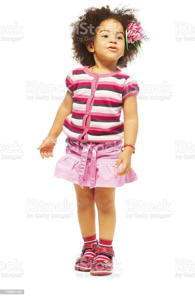 Beautiful five years old girl royalty-free stock photo