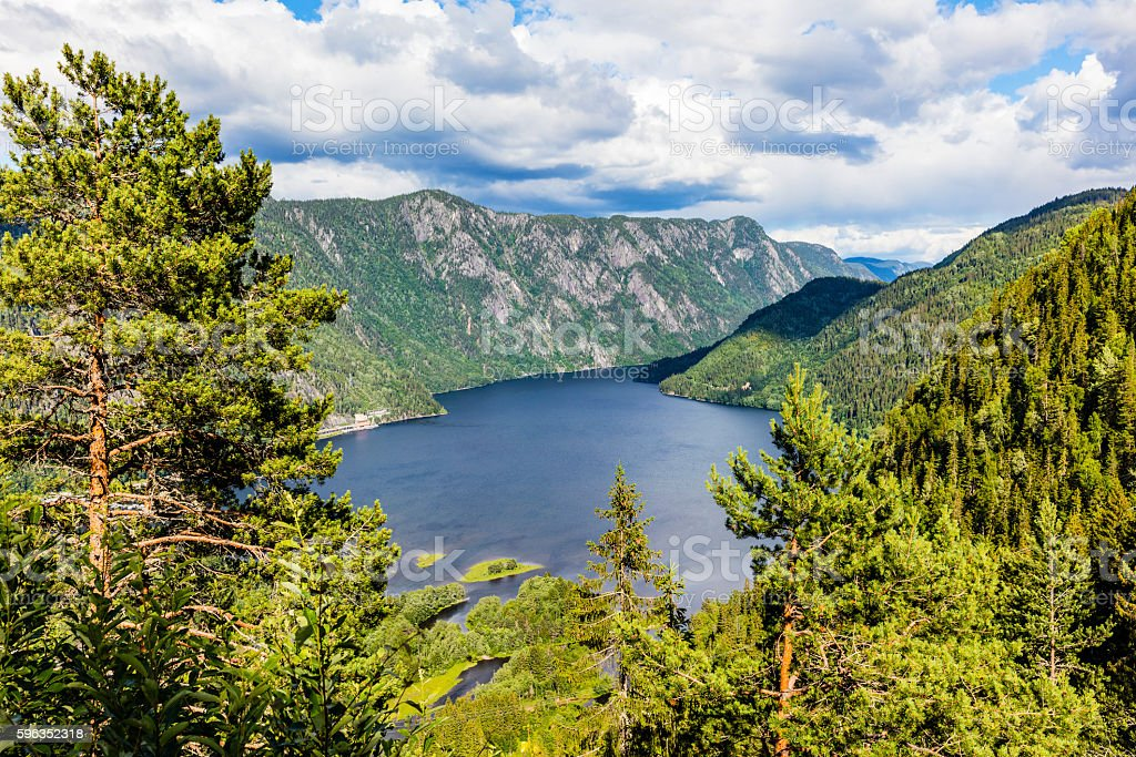 Beautiful fjord in Telemark Norway at the summer royalty-free stock photo
