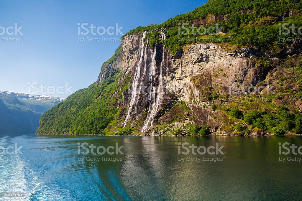 Beautiful fjords of Norway stock photo