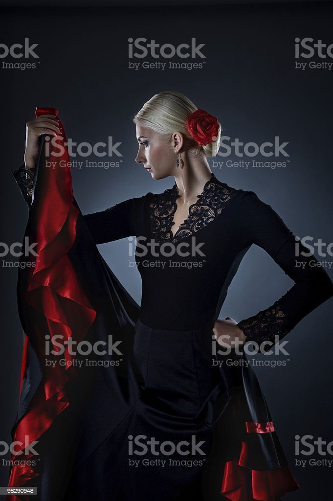 Bella ballerina di flamenco foto stock royalty-free
