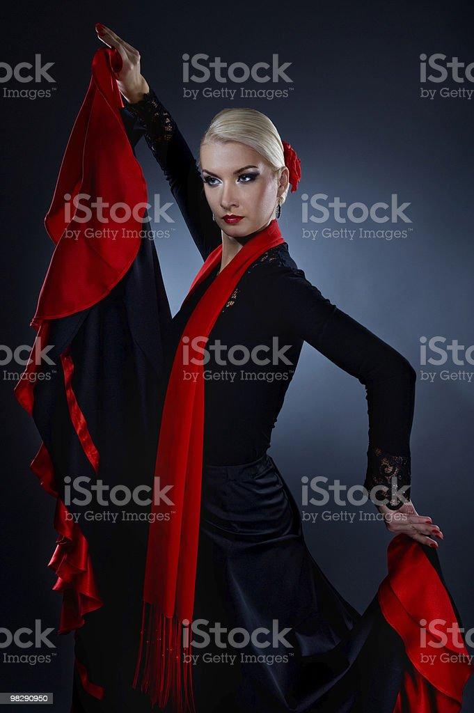Beautiful flamenco dancer royalty-free stock photo