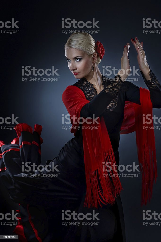 Beautiful flamenco dancer royalty-free stock photo