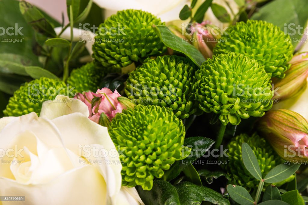 Beautiful floral decorations stock photo