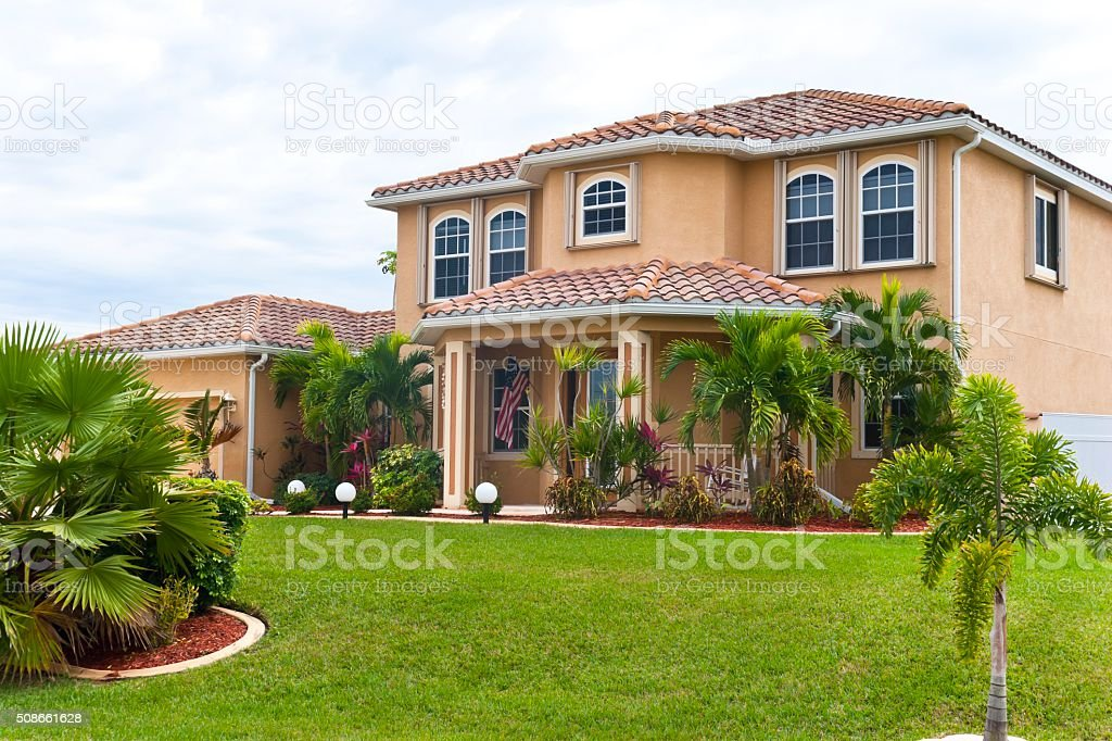Beautiful Florida Beach House stock photo