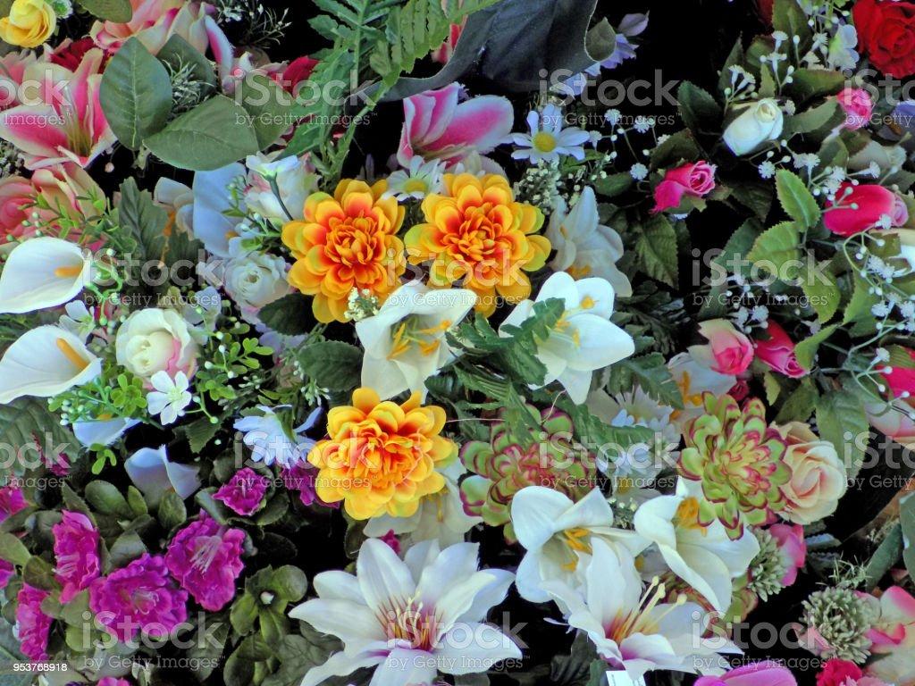 Beautiful Flower Arrangement Made Of Various Flower Species Stock