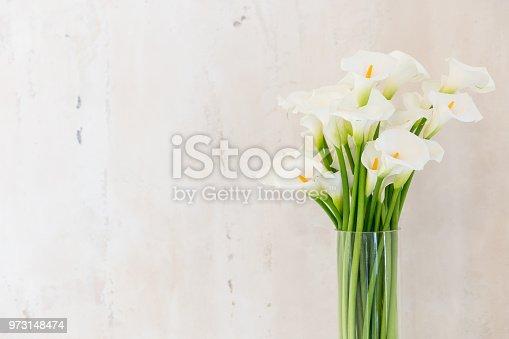 beautiful flower bouquet of calla